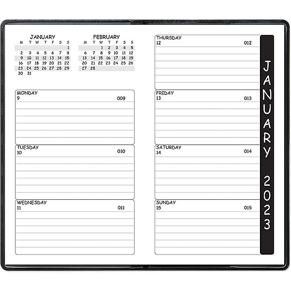 Academic Calendar Planner Refill : Weekly pocket planner circles engagement calendar