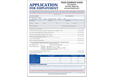 Employment Application Short Impr