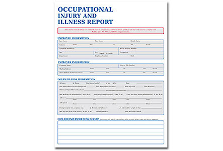 Occupational Injury & Illness Form