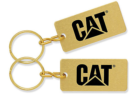 Die Struck/Color Filled Key Tag Gld