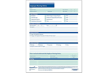Employee Warning Report