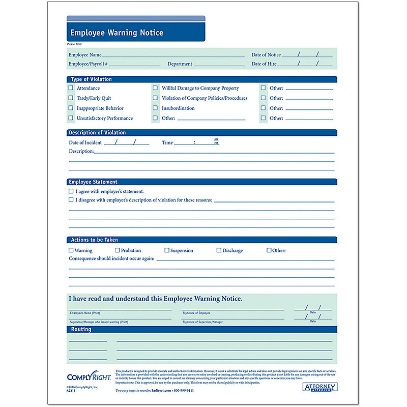 Employee Warning, Add Your Logo