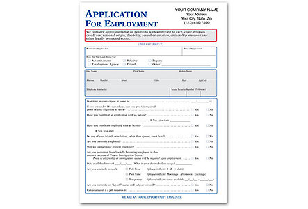 App For Employ (Maryland) Imprinted
