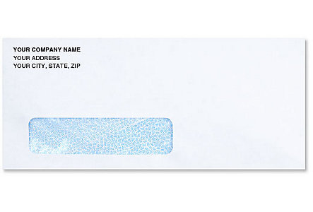 #10 Window Envelope W/Safety Tint