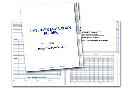 Employee Evaluation Folder-Plain