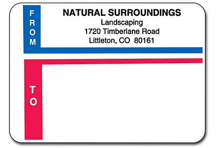 Matte Mail Labels