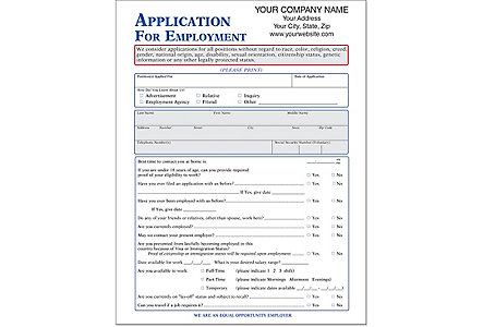 Employment Application (Felony)-Imp