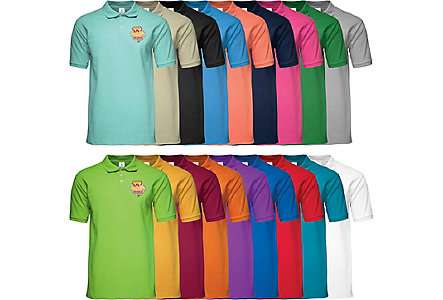 Knit Polo Shirt Embroidered