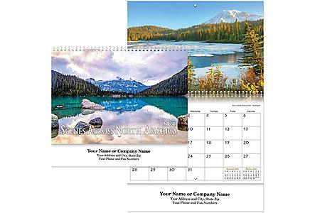scenes across american wall calendar