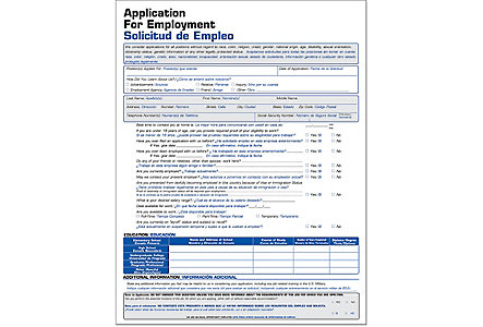 Employment Application Short Biling