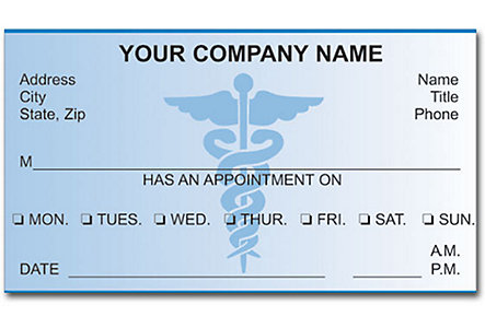 Doctor Appointment Cards