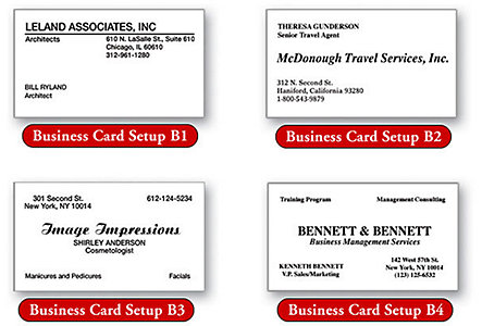 Business Card Wove 3-Or-4-Color