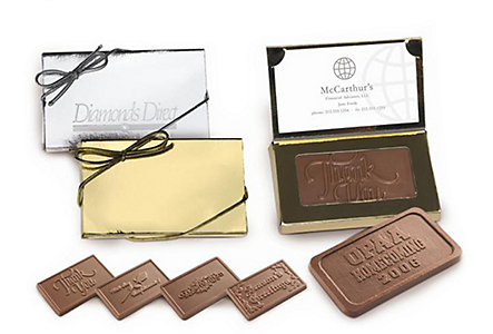 chocolate business card holder