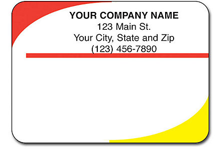 Glossy Mail Labels 1 Up Flat