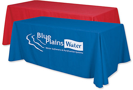 8' Table Throw- 1 Color Imprint