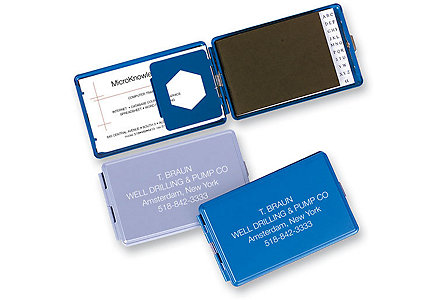 Mini Tel Business Card Holder