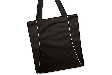 Embroidered Vertical Two-Tone Tote