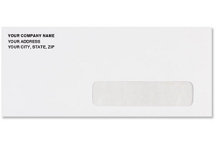 #10 Right Hand Window Envelope