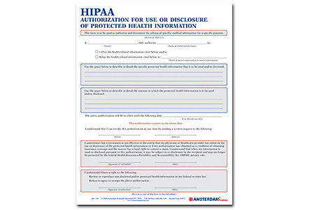 Hippa Authorization For Disclosure