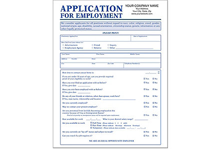 Employment App.(No Ss#)-Imp.