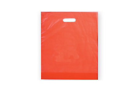 9X13 Colored Plastic Die Cut Bags