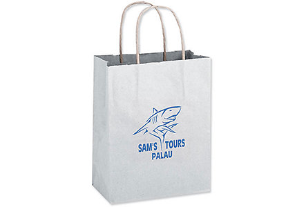 10X5x13 White Shopper Bag