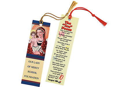 Paper Bookmark W-Tassel