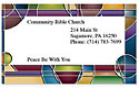 Stained Glass Business Card Magnet