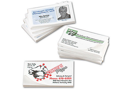 Business Cards Post-It Notes 2 Clr