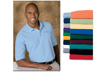 Mens Short Sleeve Pique Polo