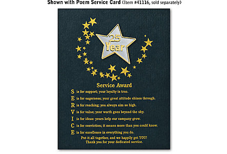 Star Service Award Pin - 25 Yr