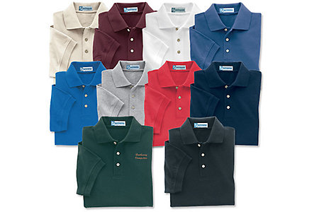Mens Cotton Poly Picque Polo