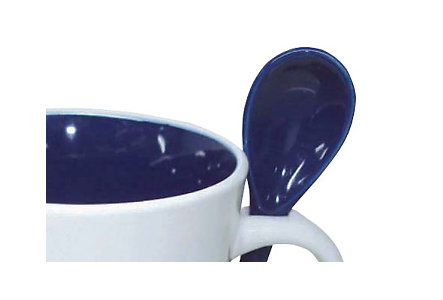 Cocoa Spoon Mug 14 Oz