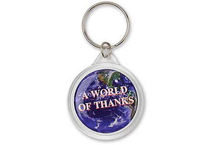 Round Domed Key Ring