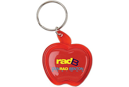Apple Domed Key Ring