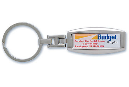 Chrome Domed Key Tag