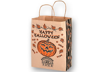 Natural Kraft 10X13 Halloween Bag