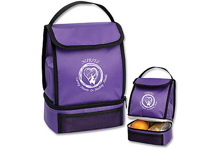 Caring Hearts Purple Lunch Sack