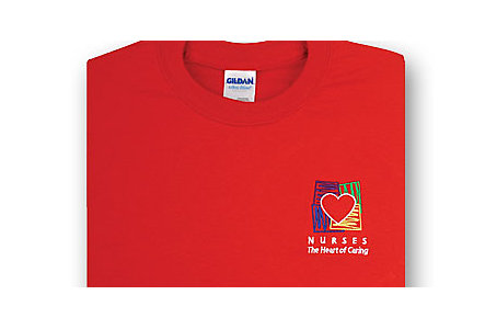 Hearts Of Caring Red T-Shirt-Medium