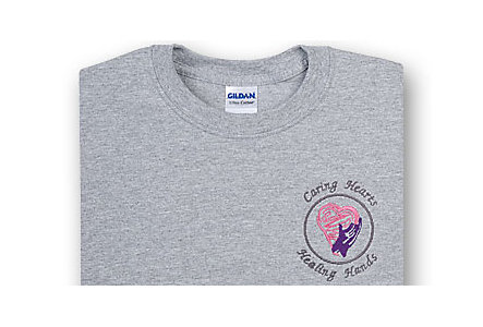 Caring Hearts Grey T-Shirt  X-Large