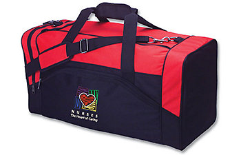 HEART OF CARING RED AMSPORT DUFFEL
