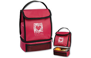 HEART OF CARING RED LUNCH SACK