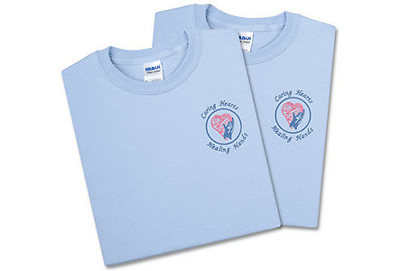 Caring Hearts Blue Tee-Large