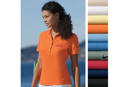 Ladies Nike Pique Knit Sport Shirt