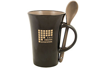 LATTE SPOON MUG 12 OZ