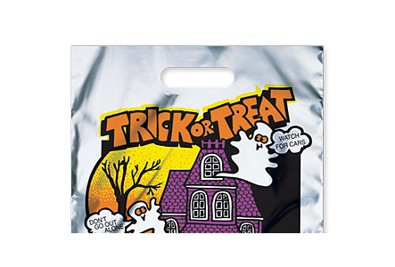 Metallic Haunted House Bag 11X15