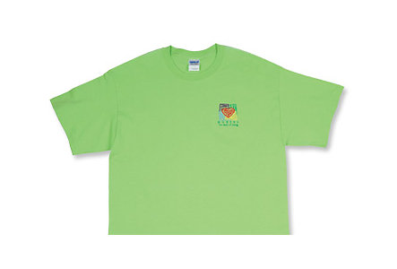 Heart Of Caring Lime Green T-Shirt