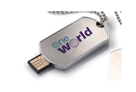 Dog Tag Usb 2.0 Flash Drive 1Gb