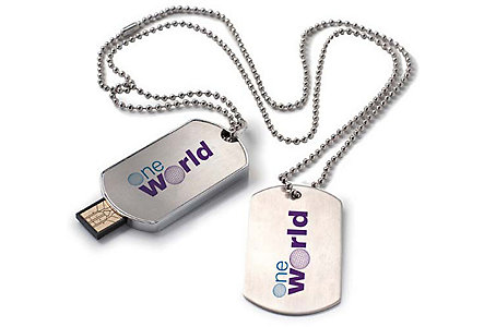 Dog Tag Usb 2.0 Flash Drive 2Gb