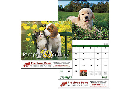 Puppies & Kittens Wall Calendar
